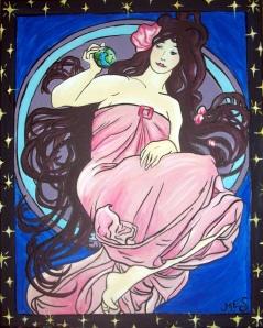 Goddess Diana Peers at Earth