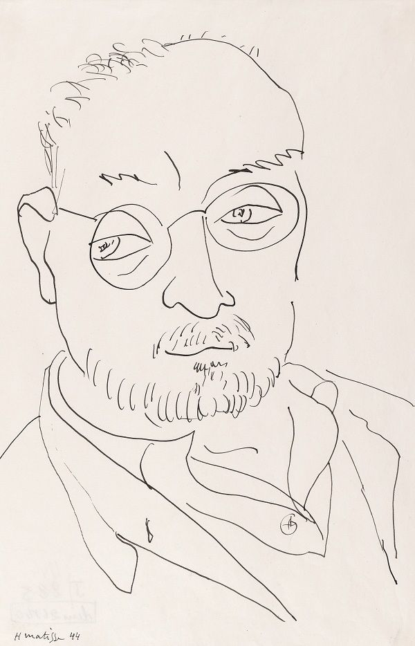 Contour Line Drawing Easy : Simple self portrait contour line drawing artistic