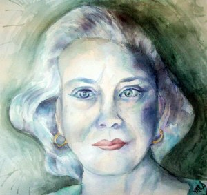 Watercolor Portrait of Nana